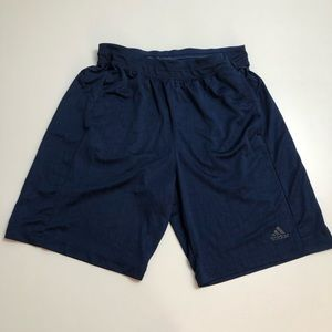 Adidas Blue Athletic Shorts Mens Large Climalite